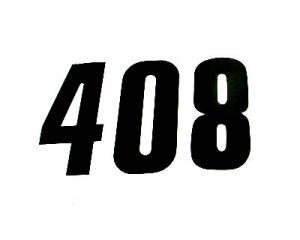 Startnummern Racing 14cm schwarz