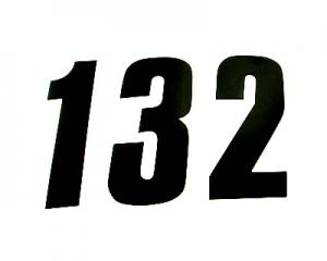 Startnummern Racing 17cm schwarz