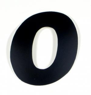 """Startnummer """"0"""" US-Style 15cm schwarz"""