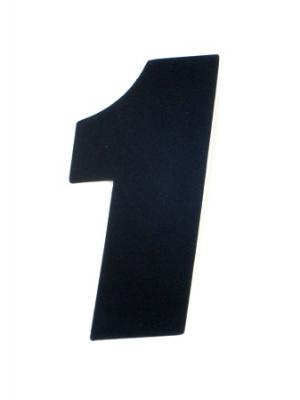 """Startnummer """"1"""" US-Style 15cm schwarz"""