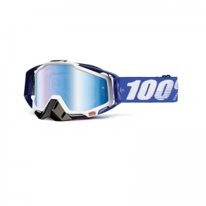 100% MX-Brille Racecraft Extra Cobalt Mirror Blue