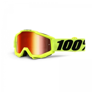 100% MX-Brille Accuri Extra Fluo Yellow Mirror Red