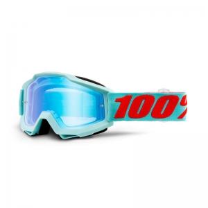 100% MX-Brille Accuri Extra Maldives Mirror Blue Flash