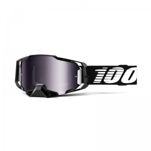 100% Brille Armega Black / Mirror Silver Flash Lens