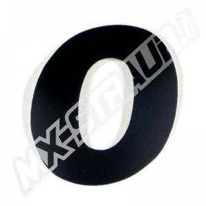 """Startnummer """"0"""" US-Style 10cm schwarz"""