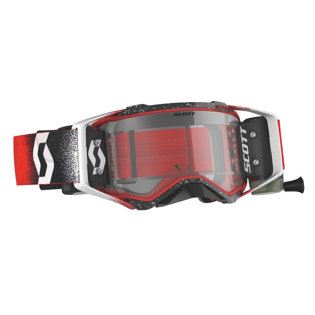 SCOTT Prospect WFS MX-Brille White/Red  klares Glas