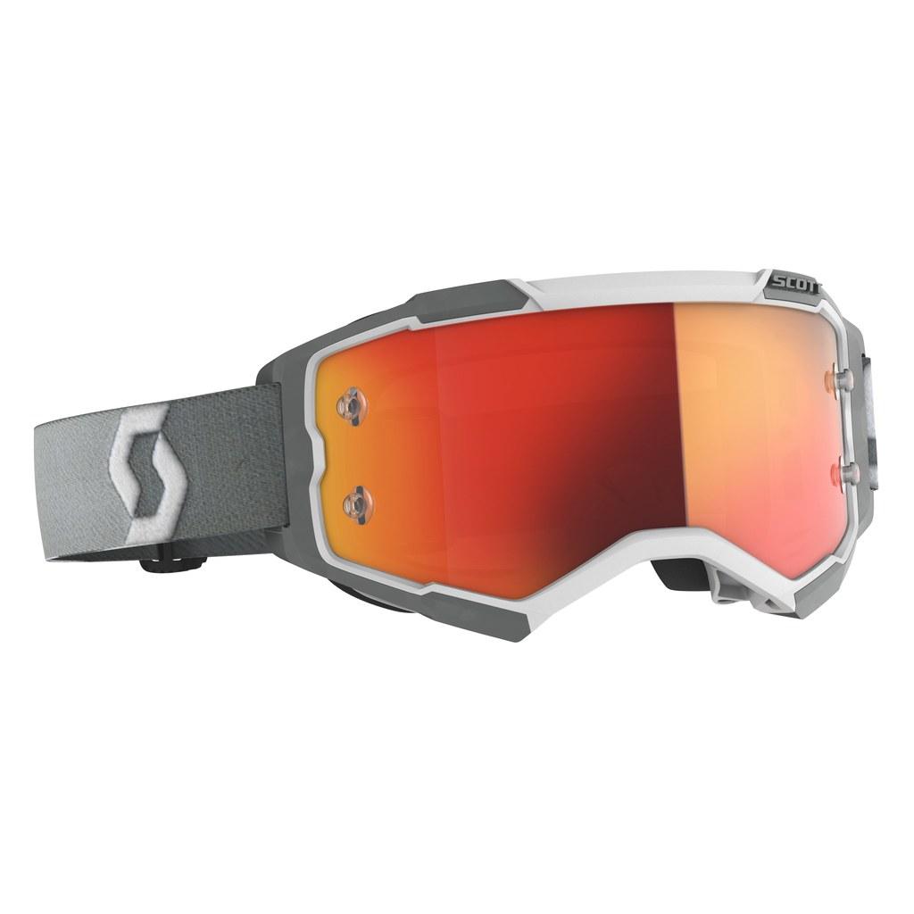 SCOTT Fury MX-Brille  White/Grey / Orange Chrome Works