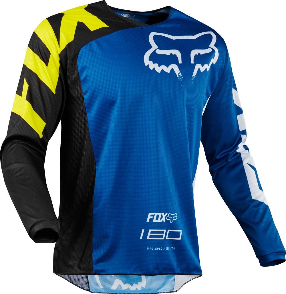 FOX 180 Race Jersey Blue Gr: M