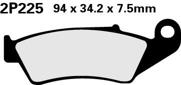 Nissin Bremsbelag vorn Kawasaki KX125-KXF450