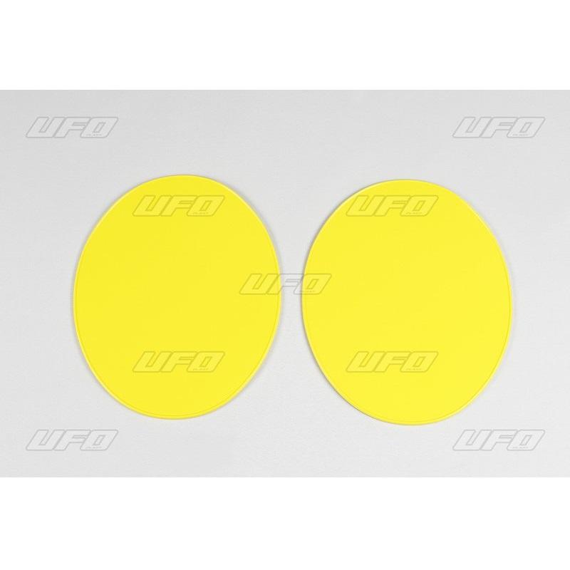UFO UNIVERSAL Nummerntafel Oval (2 Stück) gelb