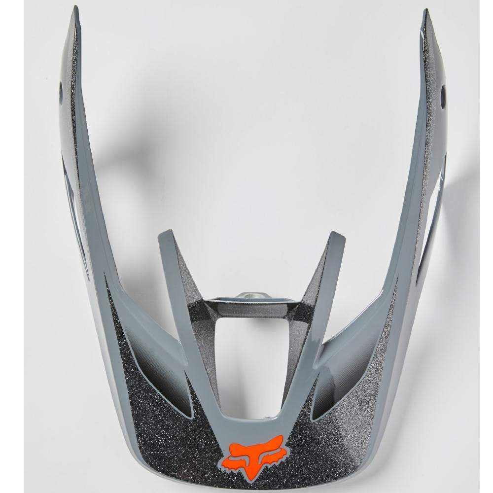 FOX V3 Wired Helmschild Stahl grau Größe: S/M