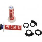 ODI Lock On V2 System Emig Rot/Weiß  2 und 4Takt